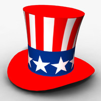 3d model of american patriot cylinder hat