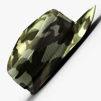 3d army cap model