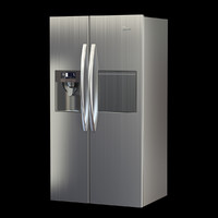 midea refrigerator 3d model