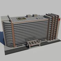 3d city hospital building model