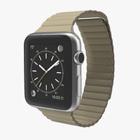 3d model apple watch 42mm stone