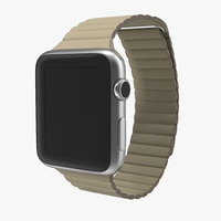 maya apple watch stone leather