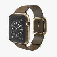 c4d apple watch soft brown leather