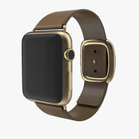 3dsmax apple watch soft brown leather