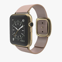 3d apple watch soft pink