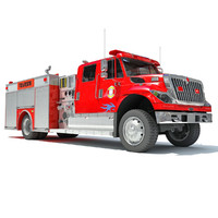 3d model of rescue pumper truck