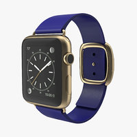 3d apple watch soft blue model