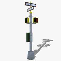 3d 3ds pedestrian traffic lights