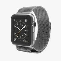 3d model of apple watch milanese loop