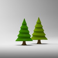 3ds cartoon tree toon