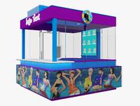kiosk booth 3d model