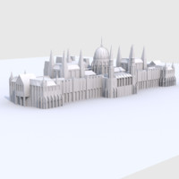 fbx low-poly hungarian parliament