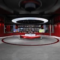 max virtual set news studio