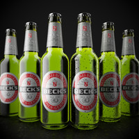 beck s beer bottle 3d max
