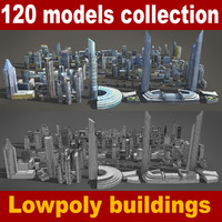 120 buildings obj