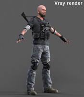 Soldier - mercenary - Realistic