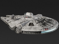millennium falcon wars 3d model