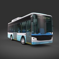 electric city bus 3d model