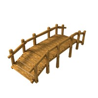 cartoon bridge 3d model