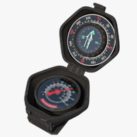 portable compass thermometer outdoor 3d x