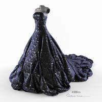 evening dress 3d 3ds