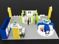 3d model exhibition stall design