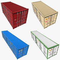 3ds max open shipping containers pack