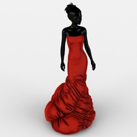 evening dress 3d 3ds