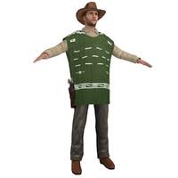 3d max cowboy hat