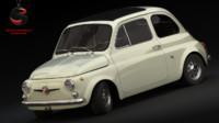 3d model fiat 500 1968