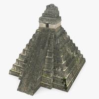 3d tikal temple 1