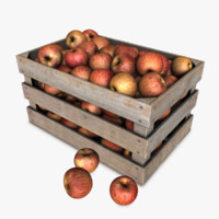 Crate with Red Apples