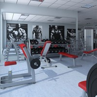 3ds max big hd gym equipment
