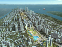 city planning 034 3d model
