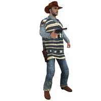 3d model rigged cowboy hat