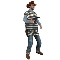 3d rigged cowboy hat model