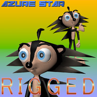 3d model hedgehog character productions