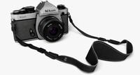 nikon fm2 camera strap 3d model