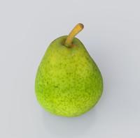3d scanned pear model