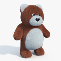 3d model of realistic teddy bear 02