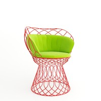 3d chair trouve model