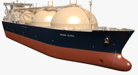 3d lng tanker ship grand