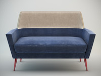 3d doble settee