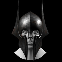 3d model dark knight helmet