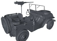 3d willys army jeep model