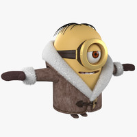 2015 minion cartoons 3d model