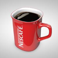 nescafe mug 3d c4d