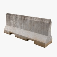 concrete barrier 1 3d model