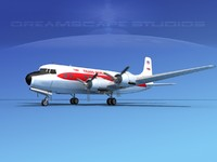 propellers douglas dc-6 airliner lwo