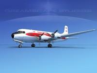 propellers douglas dc-6 airliner 3d dwg